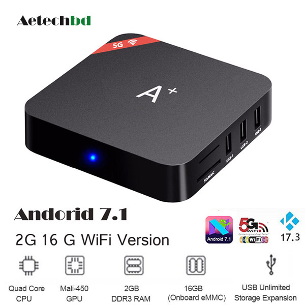 A Plus 2G 16G Quad Core Android 7.1.2 TV Box
