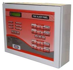 Auto smoke detector panel with LCD display