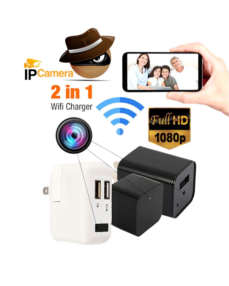 Wifi IP Camera Full HD Charger Adapter Spy Camera