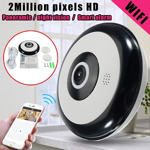 Wifi IP Camera 360° Panoramic Fish Eye Cam New V380