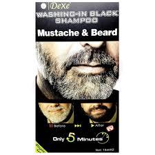 Dexe Washing In Black Mustache and Beard