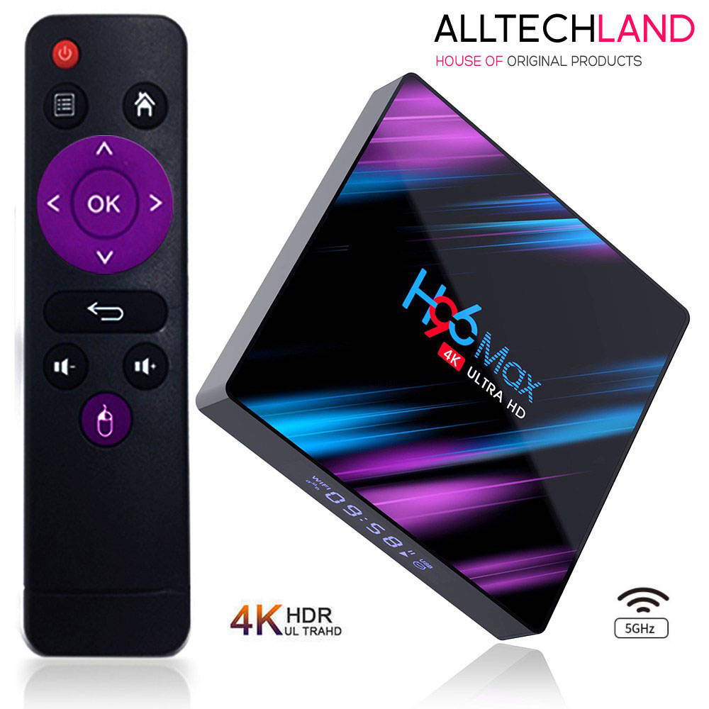 Android 9.0 New H96 MAX 4GB/32/64GB 4K TV Box 2.4G/5G WiFi LAN Bluetooth