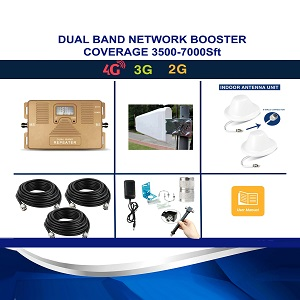 Network Booster Dual Band 4G Signal Repeater 3500/7000Sft