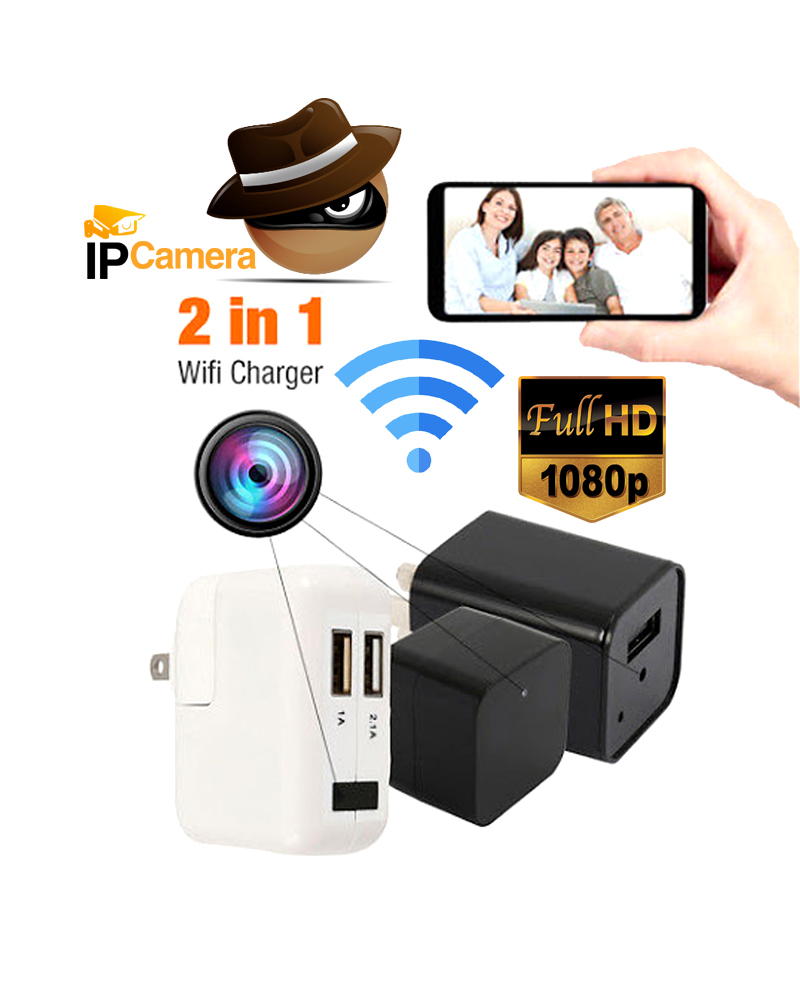 Spy Camera Full HD Wifi IP Camera Charger Adapter with Voice with Video Recorder