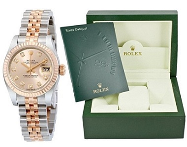 Rolex Datejust Pink Dial Rose Gold Lady Watch
