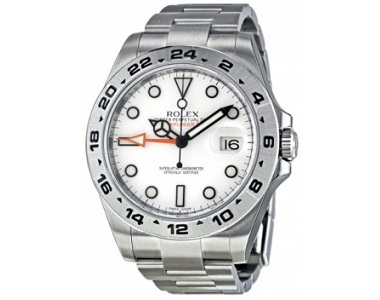 Rolex Explorer II White Automatic Stainless Steel Mens Watch