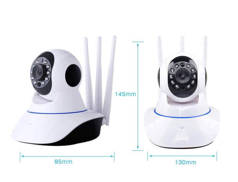 WiFi IP Home Security Camera Night Vision 3 Antennas