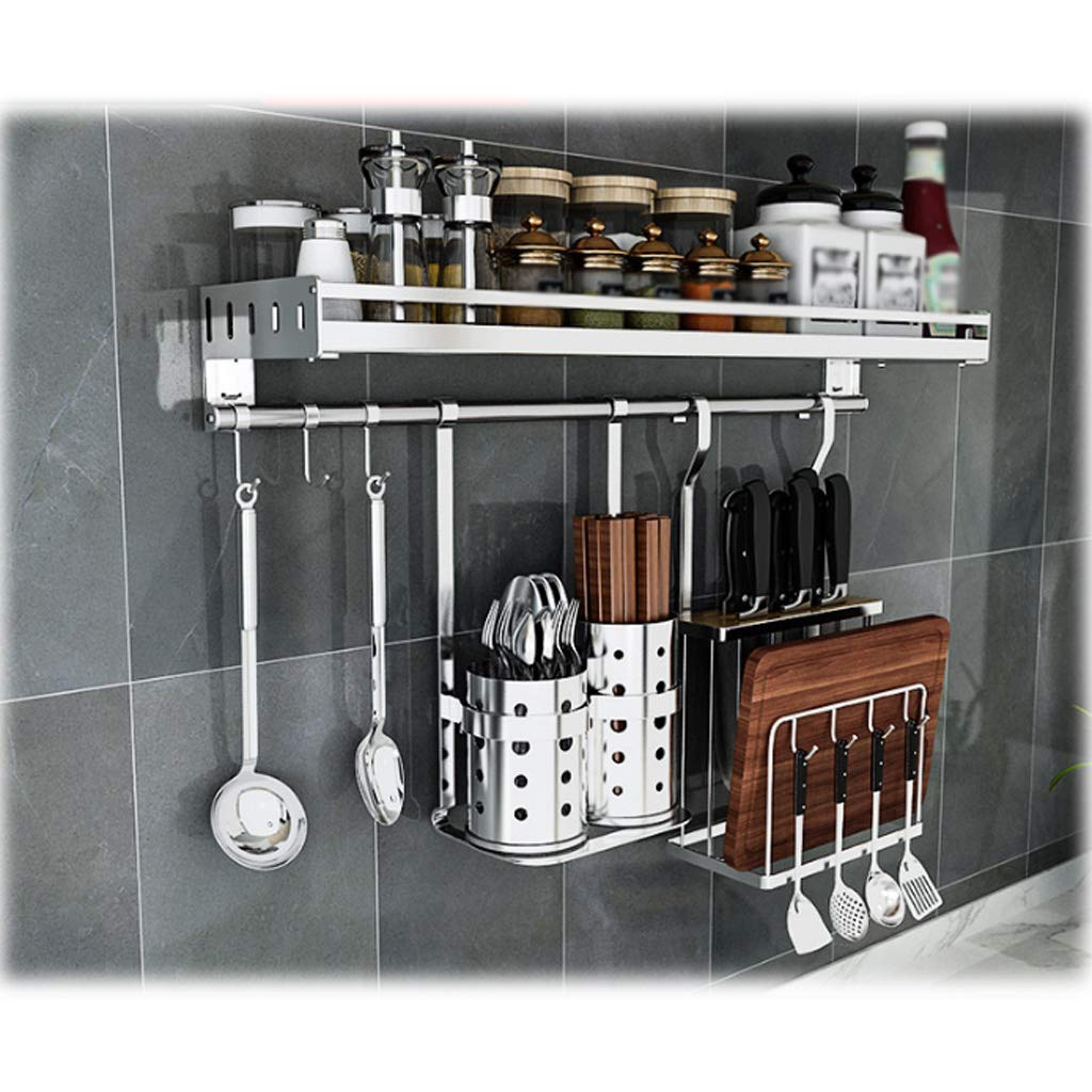 Multifunctional Wall Hanging Aluminum Kitchen Rack