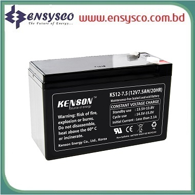 7.5 Ah Kenson Korea Brand SMF Battery