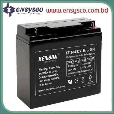 18 Ah Kenson Korea Brand SMF Battery