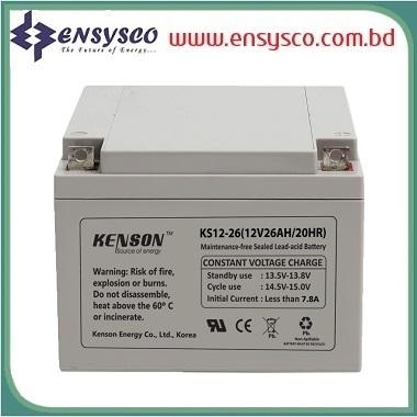 26 Ah Kenson Korea Brand SMF Battery