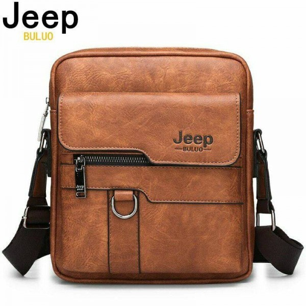 Jeep PU Leather Side Bag