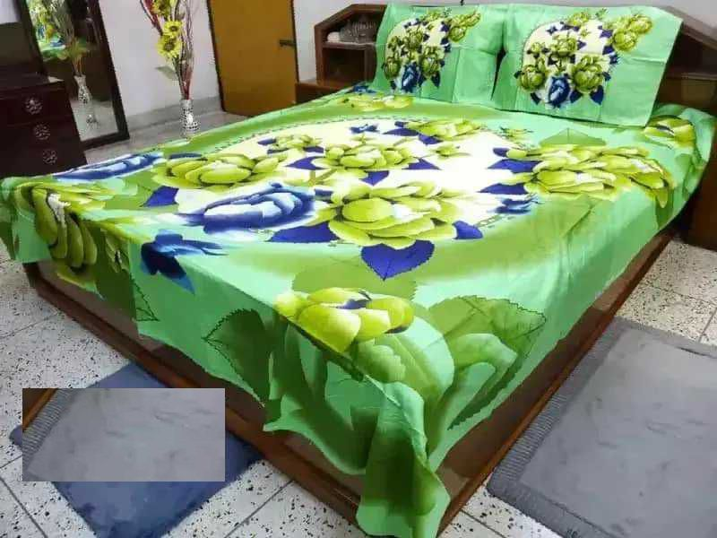 Classic Panel Bedsheet With Pillow Cover
